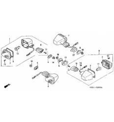 Поворотник NV400/600 Steed (89-98)/ VT600 (88-97)/ VT1100 Shadow (87-07) задний левый /