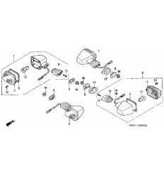 Поворотник NV400/600 Steed (89-98)/ VT600 (88-97)/ VT1100 Shadow (87-07) передний левый