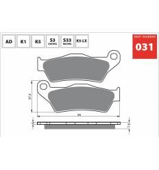 Тормозные колодки передние / задние GOLD FREN K5 OFF-ROAD 031 FA181