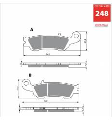 Тормозные колодки GOLD FREN K5 OFF-ROAD 248 (FA450)