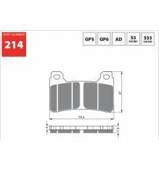 Тормозные колодки передние GOLD FREN Sintered S3 214 / FA390