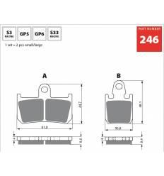 Тормозные колодки передние Yamaha R1 07-12 / V Max 1700 GOLD FREN Sintered S3 246 / FA442/4