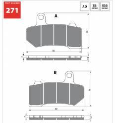 Тормозные колодки GOLD FREN Sintered S3 271 / FA409