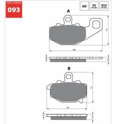 Тормозные колодки задние GOLD FREN S3 093 / FA192
