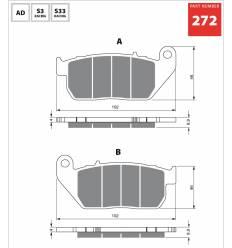 Тормозные колодки передние Harley Davidson Sportster GOLD FREN Sintered S33 272 / FA381