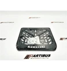 Рамка для номера мотоцикла нового образца Kawasaki 19х14см