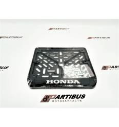 Рамка для номера мотоцикла нового образца HONDA 19х14см