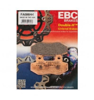 Тормозные колодки передние EBC FA086 HH DOUBLE H Sintered